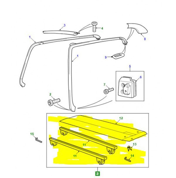RAIL ASSEMBLY-ROOF RACK ASSEMBLY CROSS  CAC100162