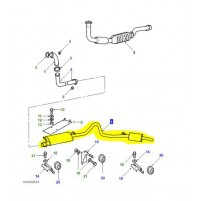 CENTRE BOX AND TAIL PIPE ASSEMBLY DISCOVERY 1 300Tdi ESR2391