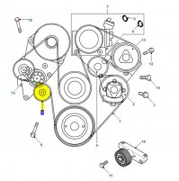 IDLER TIMING BELT V8 WITH AIR CONDITIONING PQR500060