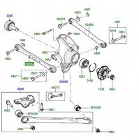 REAR SUSPENSION ARM RIGHT OR LEFT HAND LR029576