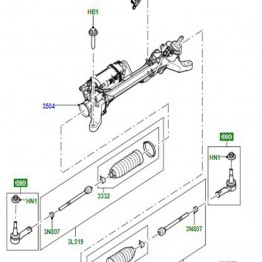 BALL JOINT RIGHT AND LEFT HAND STEERING GEAR LR059261