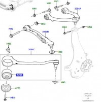 0BUSH FRONT SUSPENSION ARM LR100072