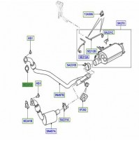 GASKET EXHAUST DOWN PIPE RIGHT HAND LR016621