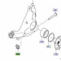 NUT M14, FLAG TYPE REAR  KNUCKLE SUSPENSION LR043586