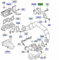 BRACKET - EXHAUST PIPE MOUNTING FOR EXHAUST CROSSOVER PIPE, CENTRE WCU500130