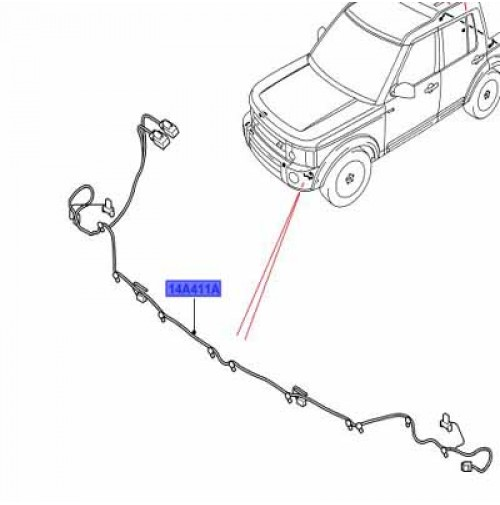 WIRING HARNESS WITH FRONT PARKING AID, WITH FRONT FOG LAMPS YMQ501631
