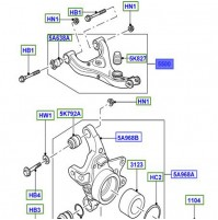 ARM - REAR SUSPENSION LEFT HAND UPPER LR023712