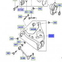 ARM - REAR SUSPENSION LEFT HAND LOWER LR023714