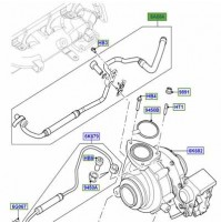 HOSE COOLING FOR TURBOCHARGER LR025919