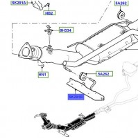 BRACKET - EXHAUST PIPE MOUNTING LR072222