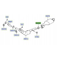 CLAMP 70MM REAR, FRONT EXHAUST SYSTEM LR077709