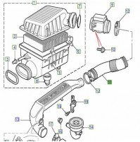 DUCT-AIR CLEANER/AIR BOX INDUCTION SYSTEM ESR4190