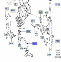 HOSE - OIL RETURN RIGHT HAND , TURBOCHARGER LR032129