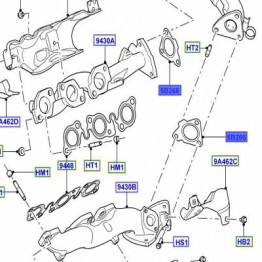 GASKET - CROSS OVER PIPE TO EXHAUST MANIFOLD  LR072304