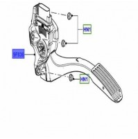 ACCELERATOR PEDAL RIGHT HAND DRIVE LRO47507